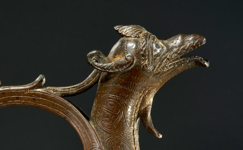 Der Kopf des Hildesheimer Drachenaquamaniles.