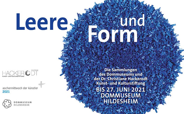 """Plakat der Ausstellung """"Leere und Form"""""""