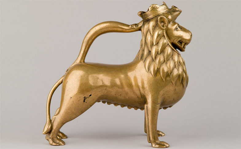 Lion Aquamanile in the Cathedral Treasure.