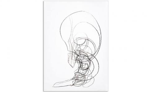 Hans Baschang: o. T., Zeichnung Nr. 438, 2014