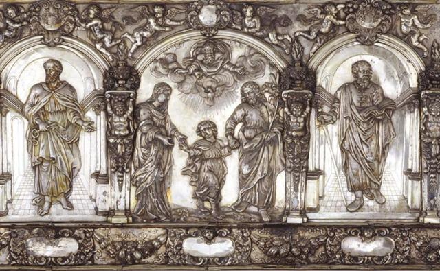 Großes Antependium aus dem Hildesheimer Dom. Inv.-Nr. DS 65