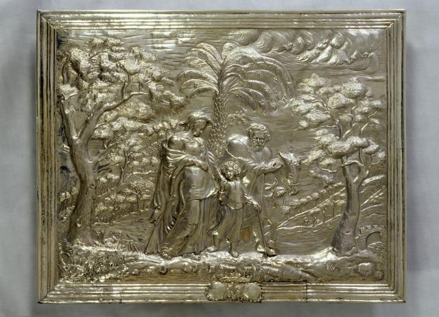 In der Sonderausstellung ist auch der silberne Vorsatz für die Tabernakeltür des Domhochaltares zu sehen. Foto: Ansgar Hoffmann/Dommuseum