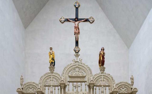 Der Rennaissance-Lettner (hier ein Ausschnitt) im Dommuseum Hildesheim ist etwa neun Meter hoch. Foto: Dommuseum Hildesheim / Florian Monheim