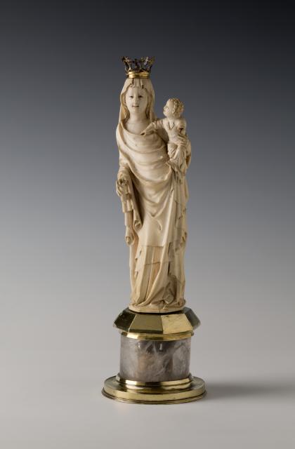 Statuette der Muttergottes, um 1390; © Dommuseum Hildesheim, Foto: Florian Monheim