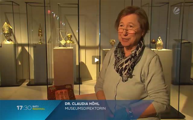 "Bildausschnitt aus der Sendung ""Hinter den Kulissen des Dommuseums"" vom 8. Dezember 2017. Quelle: 17:30 SAT.1 REGIONAL"