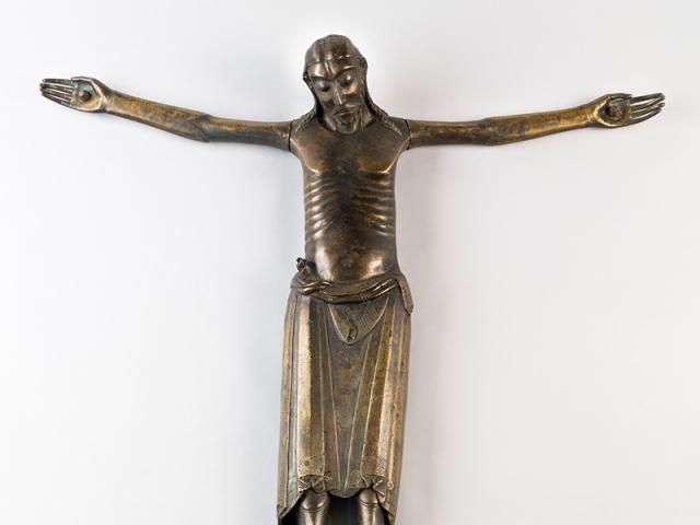 Bronzekruzifix aus dem Schatz der ehem. Abteikirche in Essen-Werden