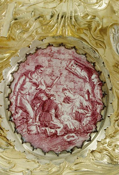 Joseph Moye: Ziborium (Detail), vor 1698. Inv.-Nr. DS 59